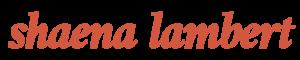 Shaena Lambert site logo image for retina screens